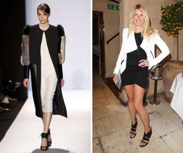 Black and White Bodicon frock fashion trend