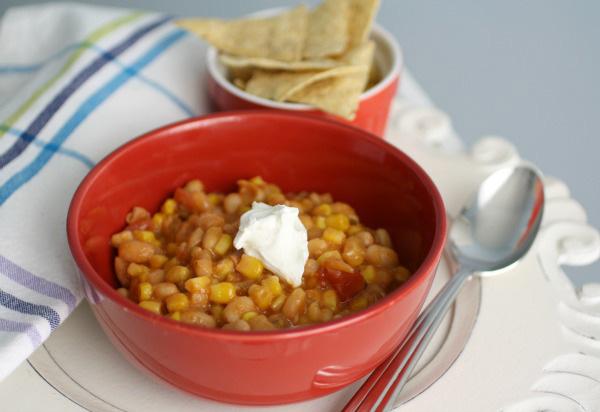 White bean and corn chili