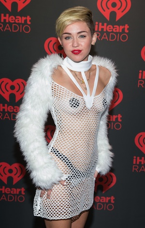Miley Cyrus backstage at MGM Grand for iHeart Radio.