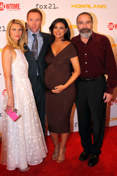Pregnant Homeland star Morena Baccarin and Claire Danes