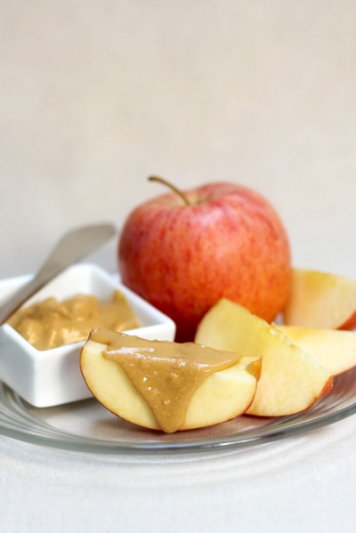 Peanut butter and apple