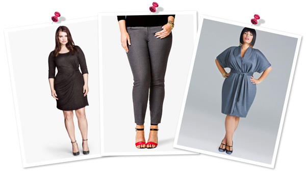Gray style trend for plus-size women