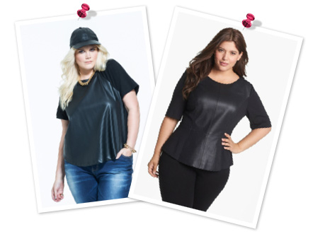 Leather tops for plus sizes