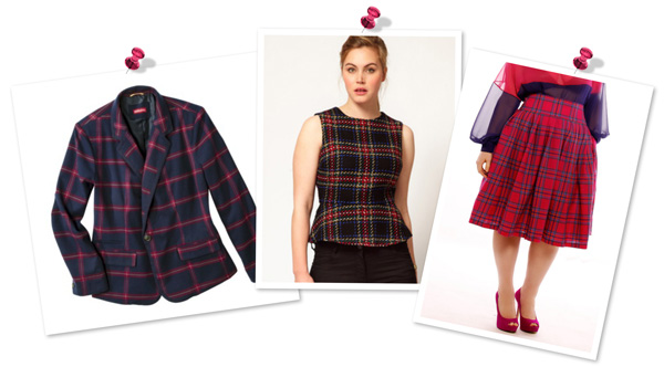 Plaid plus-size style trend fall 2013