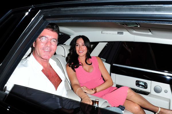 Simon Cowell and pregnant Lauren Silverman