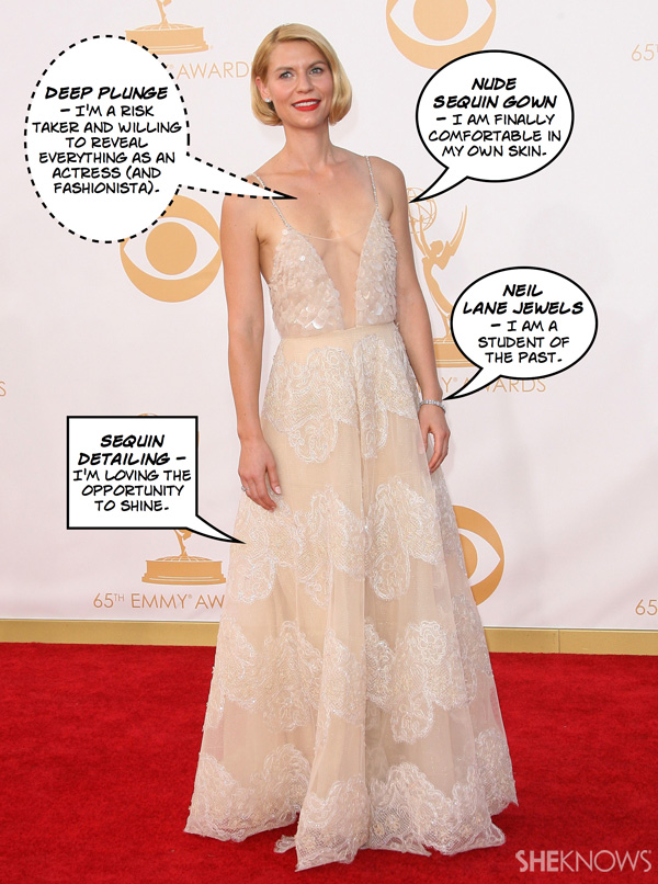 What does Claire Danes' 2013 Emmy look mean?