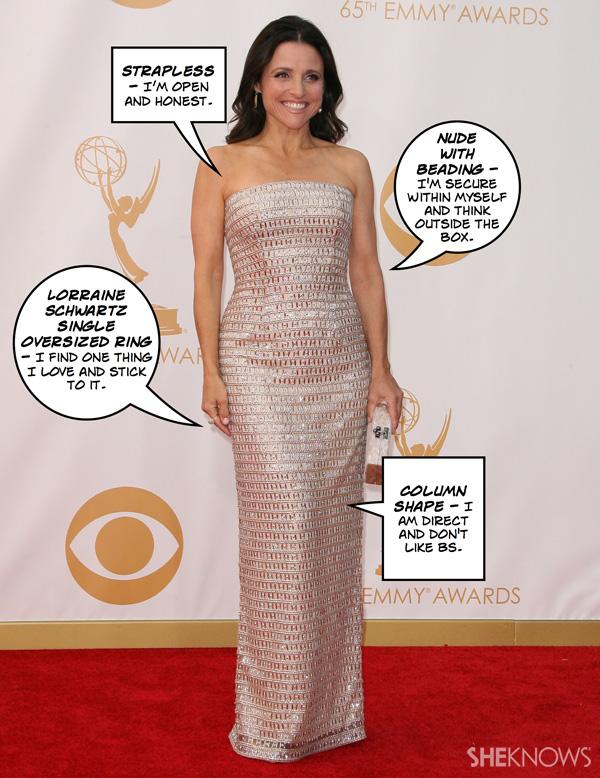 What does Julia Louis-Dreyfus' Emmy look mean?