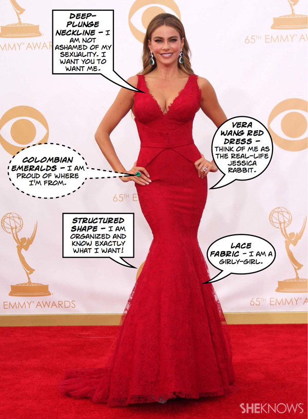 What does Sofia Vergara's 2013 Emmy look mean?