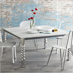 Marble square table from Crate&Barrel