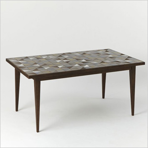 tiled table from West Elm