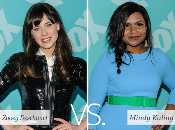 Who's hotter: Zooey Deschanel or Mindy Kaling?
