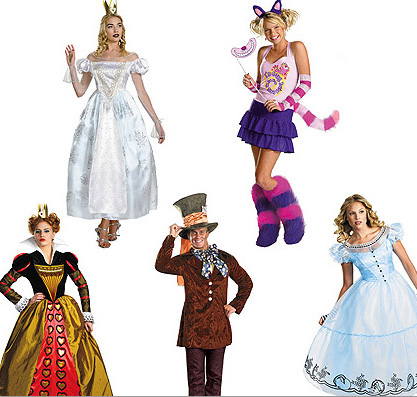 Hilarious group costume ideas for Halloween: Alice in Wonderland