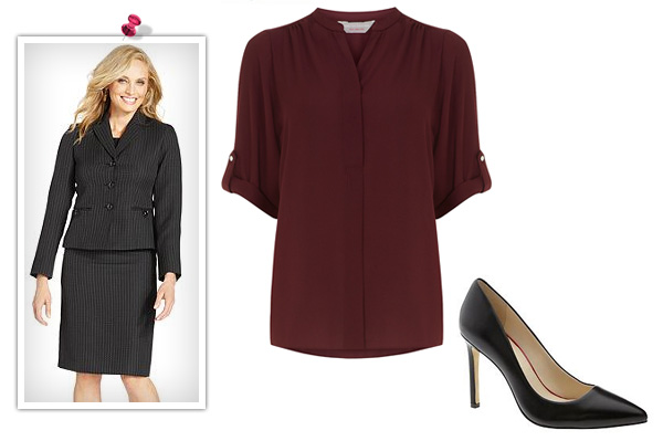 5 Fall outfits inspired by classic fall colors -- burgundy