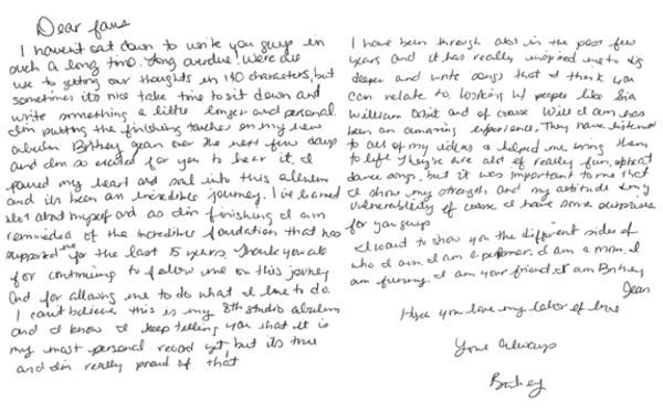 Britney Letter