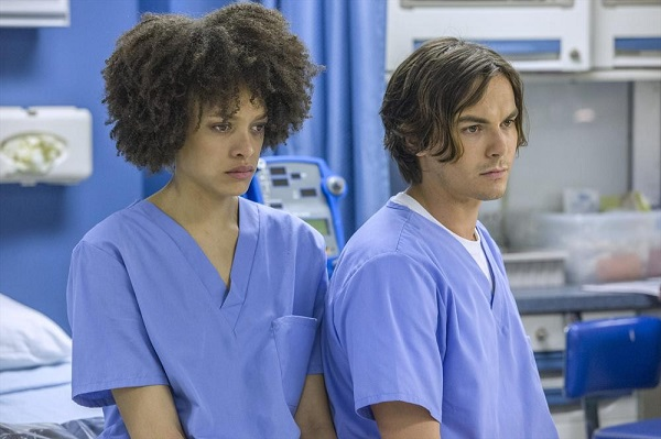 Remy and Caleb at the hospital