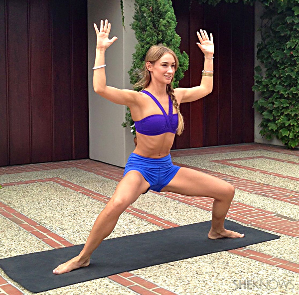 Thin, toned thighs with yoga!
