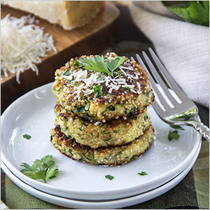 Zuchinni quinoa fritters | Sheknows.ca