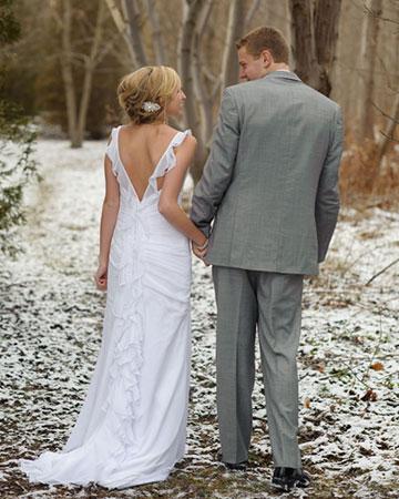 Winter wedding ideas from the stars