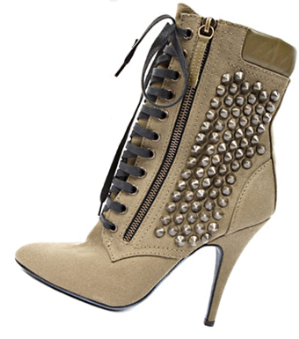 Kim Kardashian's Giuseppe Zanotti Lace-Up studded booties