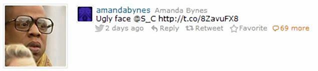Amanda Bynes/J-Z tweet