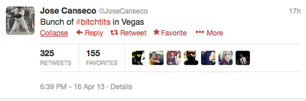 Jose Canseco tweets