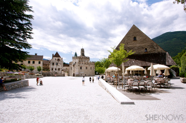 Enchanting 12 towns at the Dolomite mountains