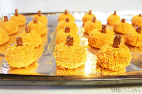 Spicy sweet potato pumpkin bites