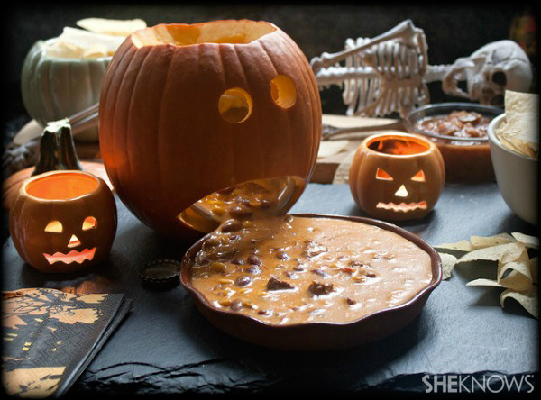 Creepy Halloween party dip