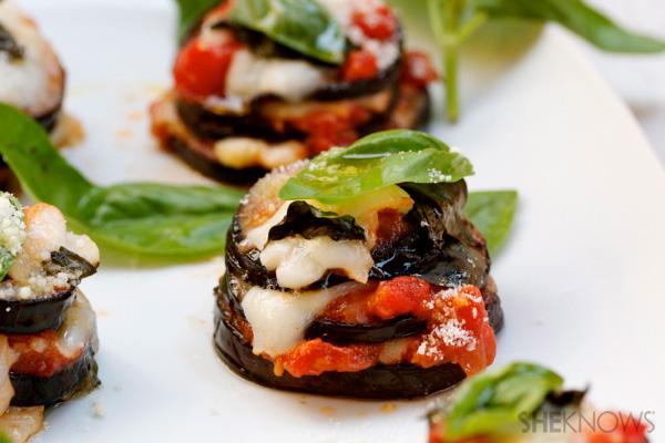 Mini Parmigiana bites oozing with goodness