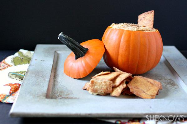 Pumpkin hummus {in a pumpkin}
