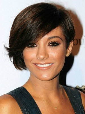 Frankie Sandford's brown hair