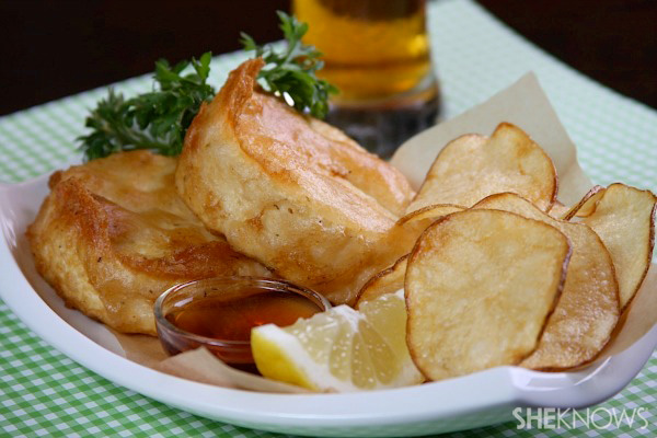 Vegan fish and chips for Deep fry fish batter