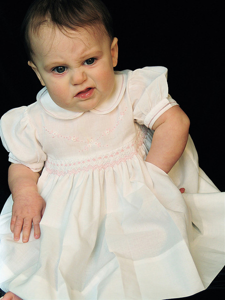 Baby photo fails - Not feeling that dress