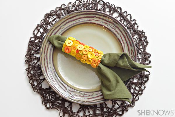 Corn napkin holder craft