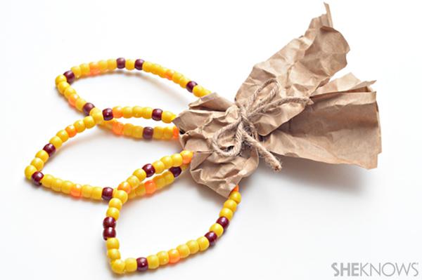 Beaded Indian corn craft