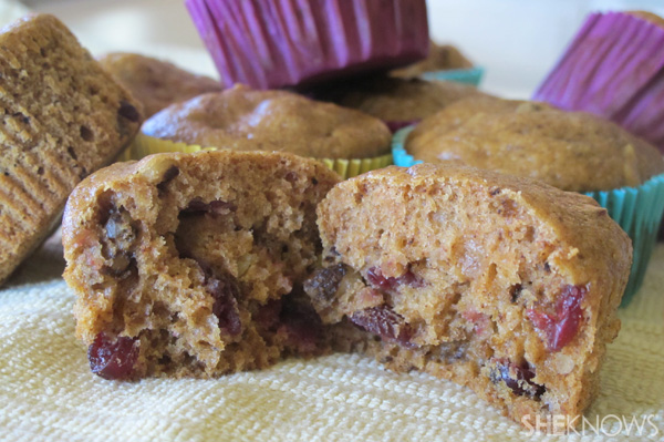 Pumpkin pomegranate muffins