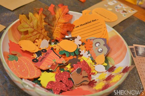 Fall garland craft supplies