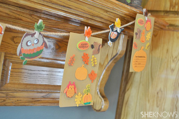 Fall garland craft