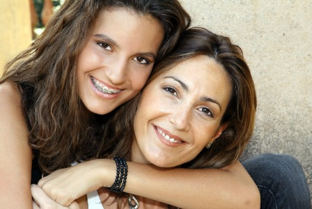 Woman with teen daughter