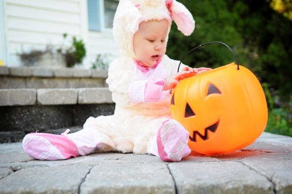 Celebrating baby's first Halloween