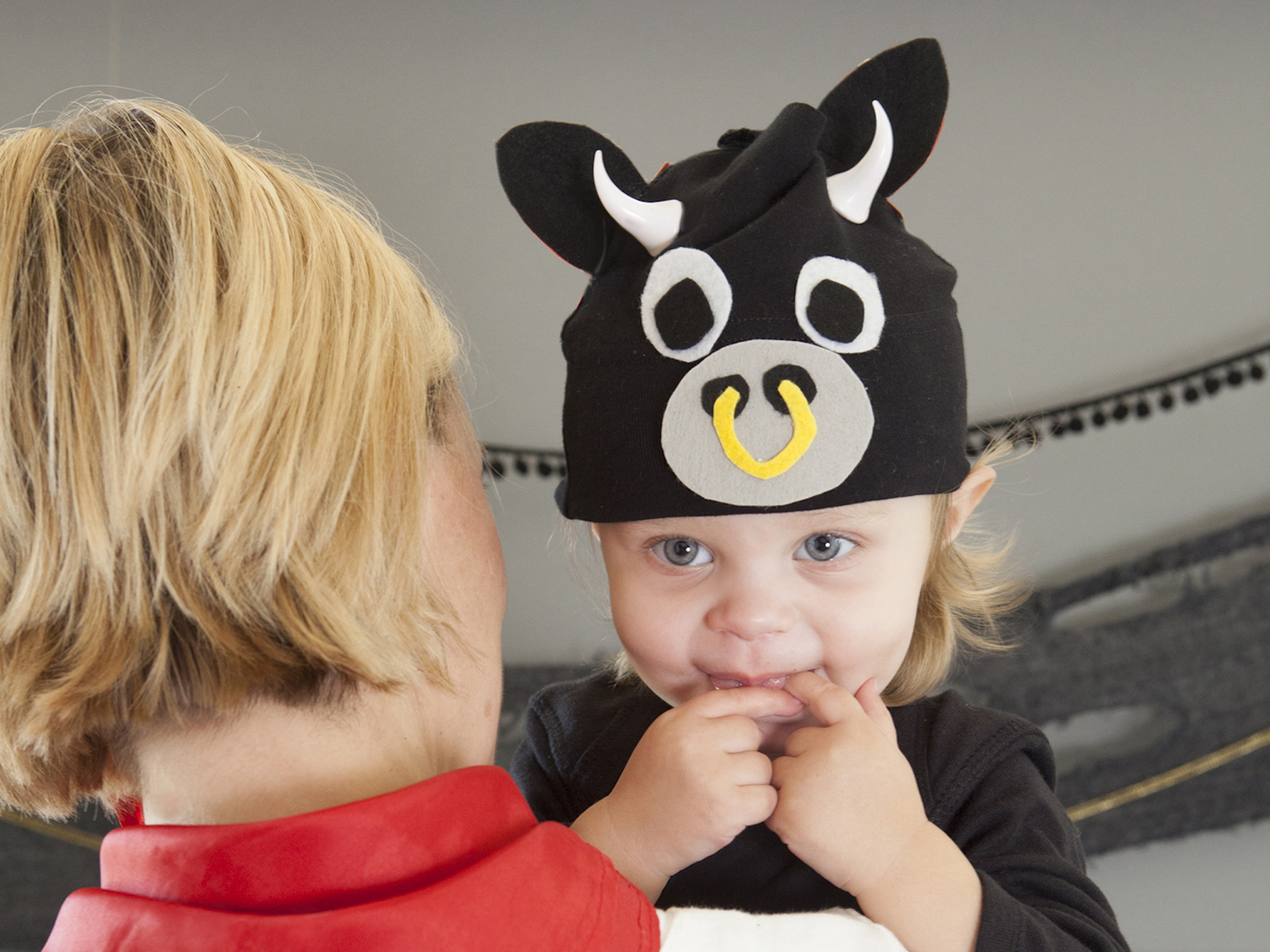 DIY Halloween costume idea: Baby bull