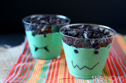 3 easy halloween treats for the kids - Pudding Halloween Desserts
