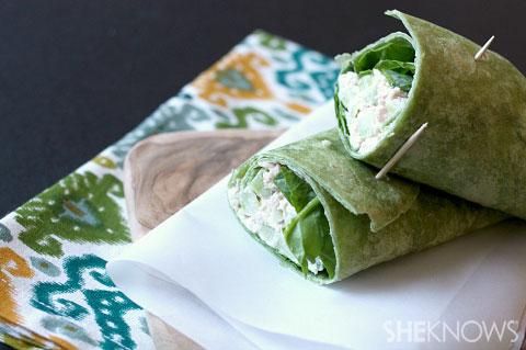 loaded tuna wrap