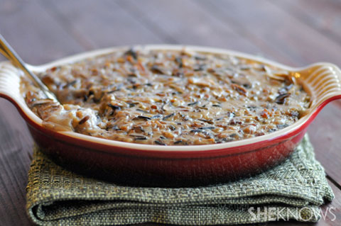 bacon mushroom and wild rice casserole
