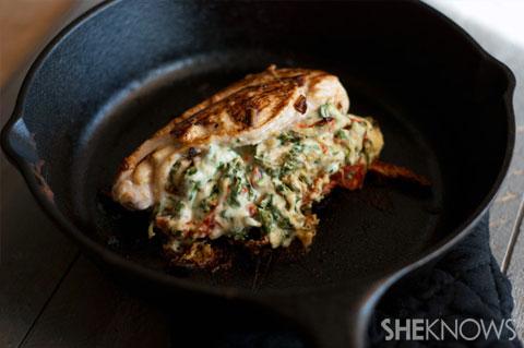 Sundried tomato spinach and feta stuffed chicken recipe