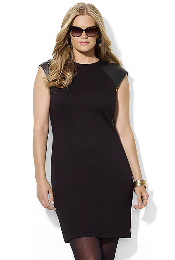 Lord & Taylor: Ralph Lauren leather-sleeved sheath dress