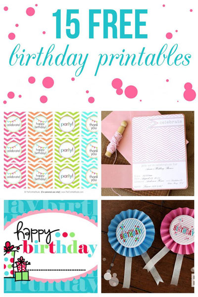 15 free birthday printables