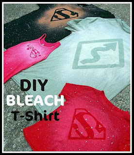DIY Bleack t-shirts