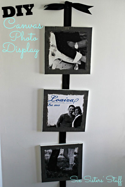 DIY Canvas photo display