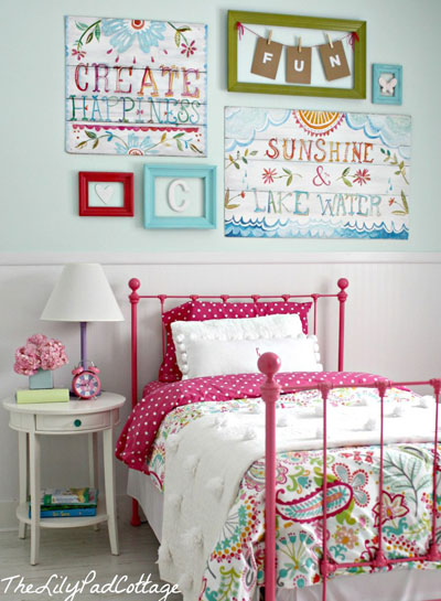 Eclectic colors and a warm cottage feel